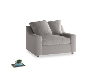 Cloud love seat sofa bed in Mouse grey Clever Deep Velvet