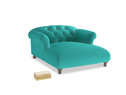 Dixie Love Seat Chaise in Fiji Clever Velvet