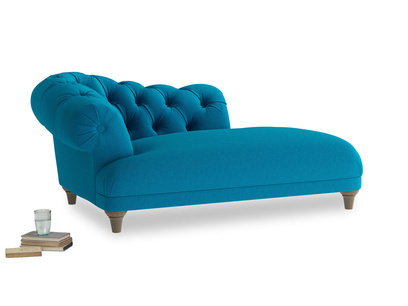 Left Hand Fats Chaise Longue in Bermuda Brushed Cotton