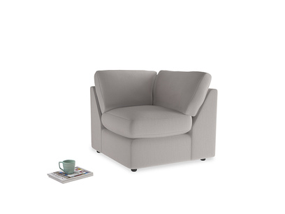 Chatnap Corner Unit in Mouse grey Clever Deep Velvet
