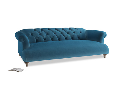 Large Dixie Sofa in Twilight blue Clever Deep Velvet