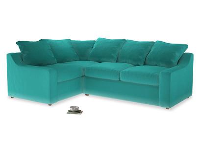 Large Left Hand Cloud Corner Sofa in Fiji Clever Velvet