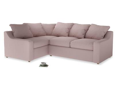 Large Left Hand Cloud Corner Sofa in Potter's pink Clever Linen