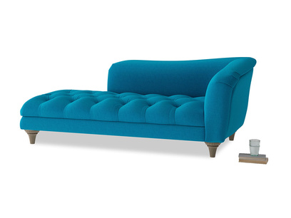 Right Hand Slumber Jack Chaise Longue in Bermuda Brushed Cotton