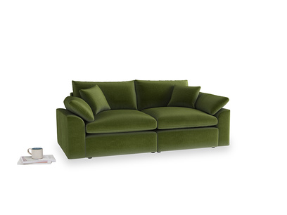 Medium Cuddlemuffin Modular sofa in Good green Clever Deep Velvet