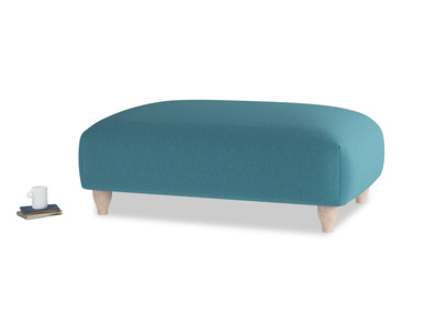 Soufflé Footstool in Lido Brushed Cotton