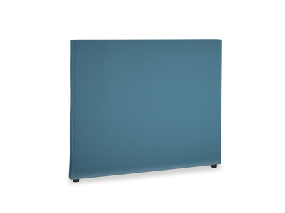 Double Piper Headboard in Old blue Clever Deep Velvet