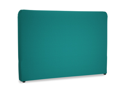 Superking Ruffle Headboard in Indian green Brushed Cotton