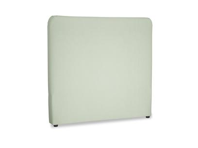 Double Ruffle Headboard in Powder green Clever Linen