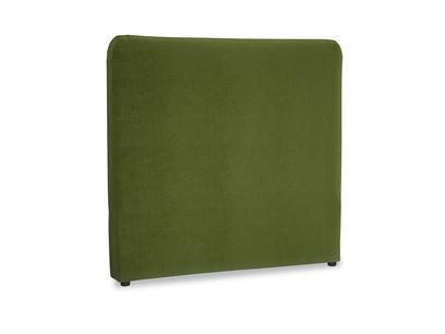 Double Ruffle Headboard in Good green Clever Deep Velvet