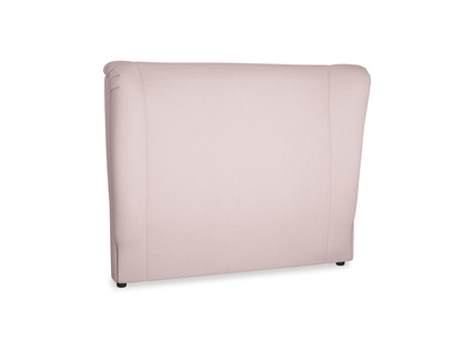 Double Hugger Headboard in Potter's pink Clever Linen