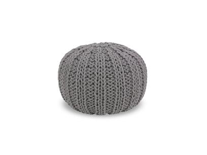 Ash grey pouffe