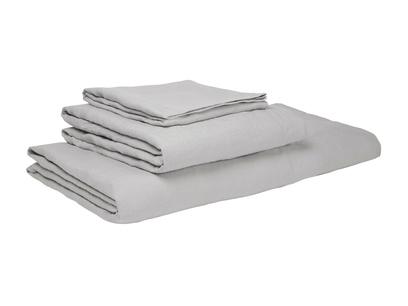 Single Lazy Linen pillowcases in Light Grey