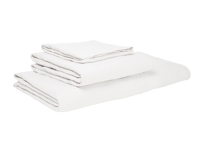 Superking Lazy Linen duvet covers in White
