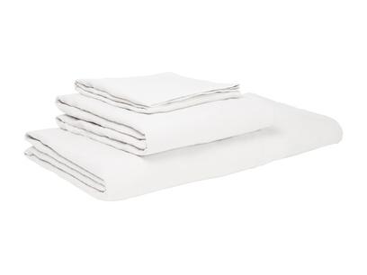 Single Lazy Linen pillowcases in White
