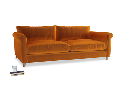 Extra large Weekender Sofa in Spiced Orange clever velvet