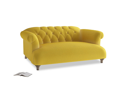 Small Dixie Sofa in Bumblebee clever velvet