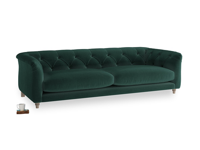 Large Boho Sofa in Dark green Clever Velvet