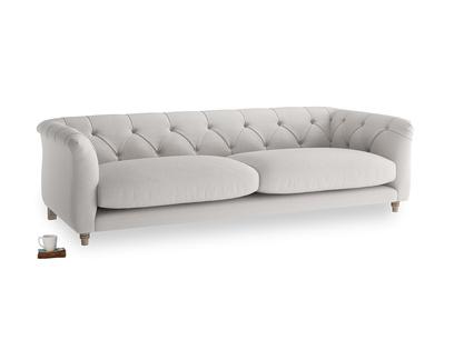 Large Boho Sofa in Lunar Grey washed cotton linen