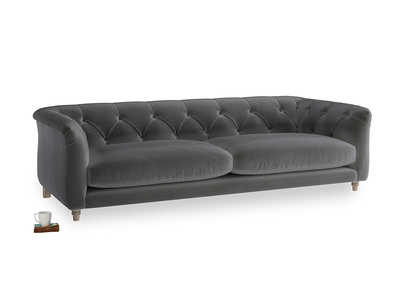 Large Boho Sofa in Steel clever velvet