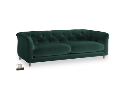 Medium Boho Sofa in Dark green Clever Velvet