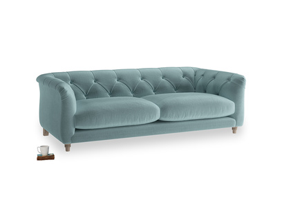 Medium Boho Sofa in Lagoon clever velvet