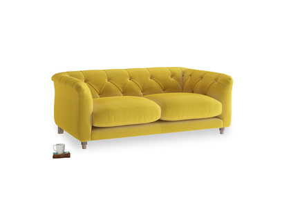 Small Boho Sofa in Bumblebee clever velvet