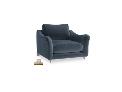 Love Seat Bumpster Love Seat in Liquorice Blue clever velvet