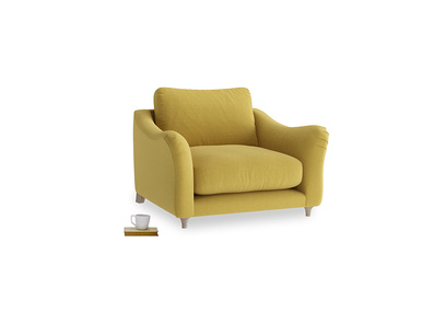Love Seat Bumpster Love Seat in Maize yellow Brushed Cotton