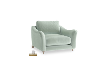 Love Seat Bumpster Love Seat in Mint clever velvet
