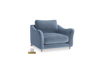 Love Seat Bumpster Love Seat in Winter Sky clever velvet