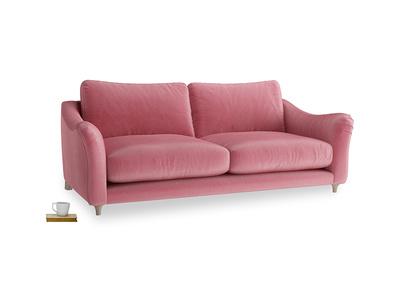 Large Bumpster Sofa in Blushed pink vintage velvet