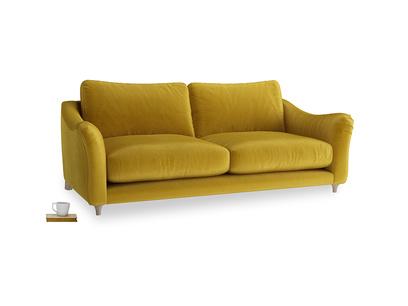Large Bumpster Sofa in Burnt yellow vintage velvet