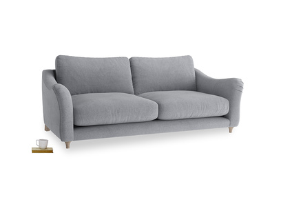 Large Bumpster Sofa in Dove grey wool