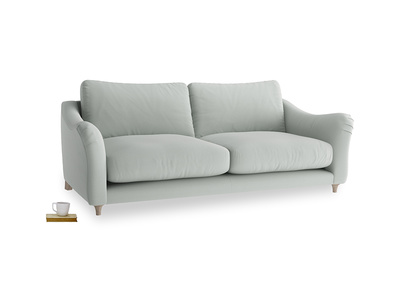 Large Bumpster Sofa in Eggshell grey clever cotton