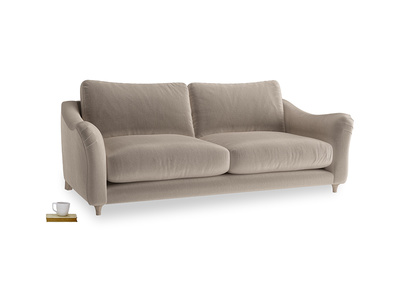 Large Bumpster Sofa in Fawn clever velvet