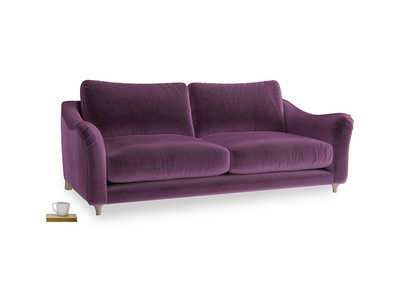 Large Bumpster Sofa in Grape clever velvet