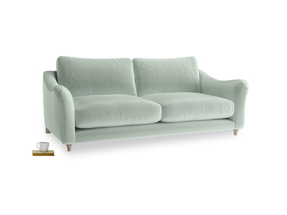 Large Bumpster Sofa in Mint clever velvet
