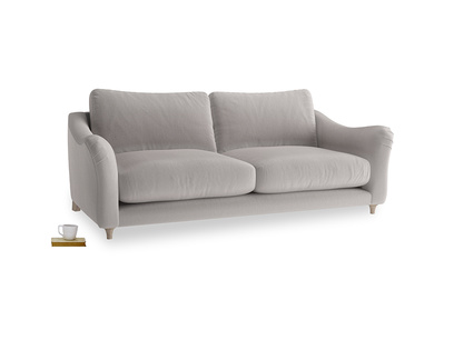 Large Bumpster Sofa in Mouse grey Clever Deep Velvet