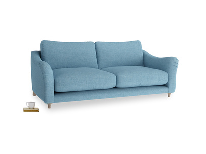 Large Bumpster Sofa in Moroccan blue clever woolly fabric