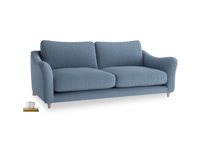 Large Bumpster Sofa in Nordic blue brushed cotton