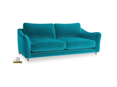 Large Bumpster Sofa in Pacific Clever Velvet