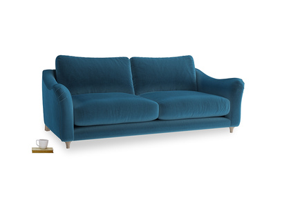 Large Bumpster Sofa in Twilight blue Clever Deep Velvet