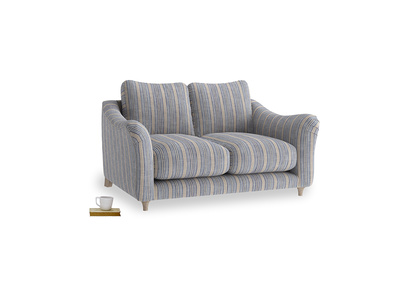Small Bumpster Sofa in Brittany Blue french stripe