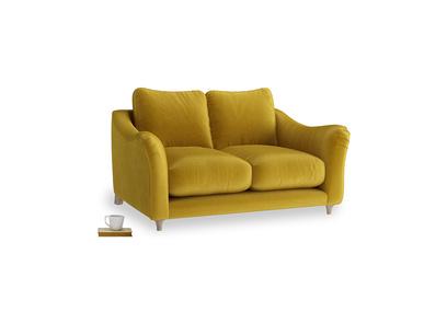 Small Bumpster Sofa in Burnt yellow vintage velvet