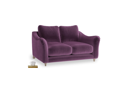 Small Bumpster Sofa in Grape clever velvet