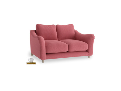 Small Bumpster Sofa in Raspberry brushed cotton