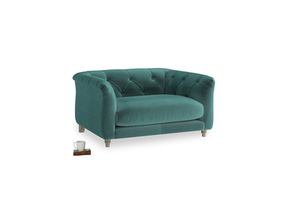 Boho Love Seat in Real Teal clever velvet