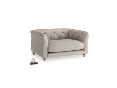 Boho Love Seat in Sailcloth grey Clever Woolly Fabric