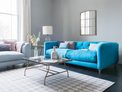 Boho high arm modern sofa